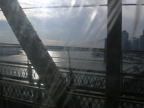 east river, by train.